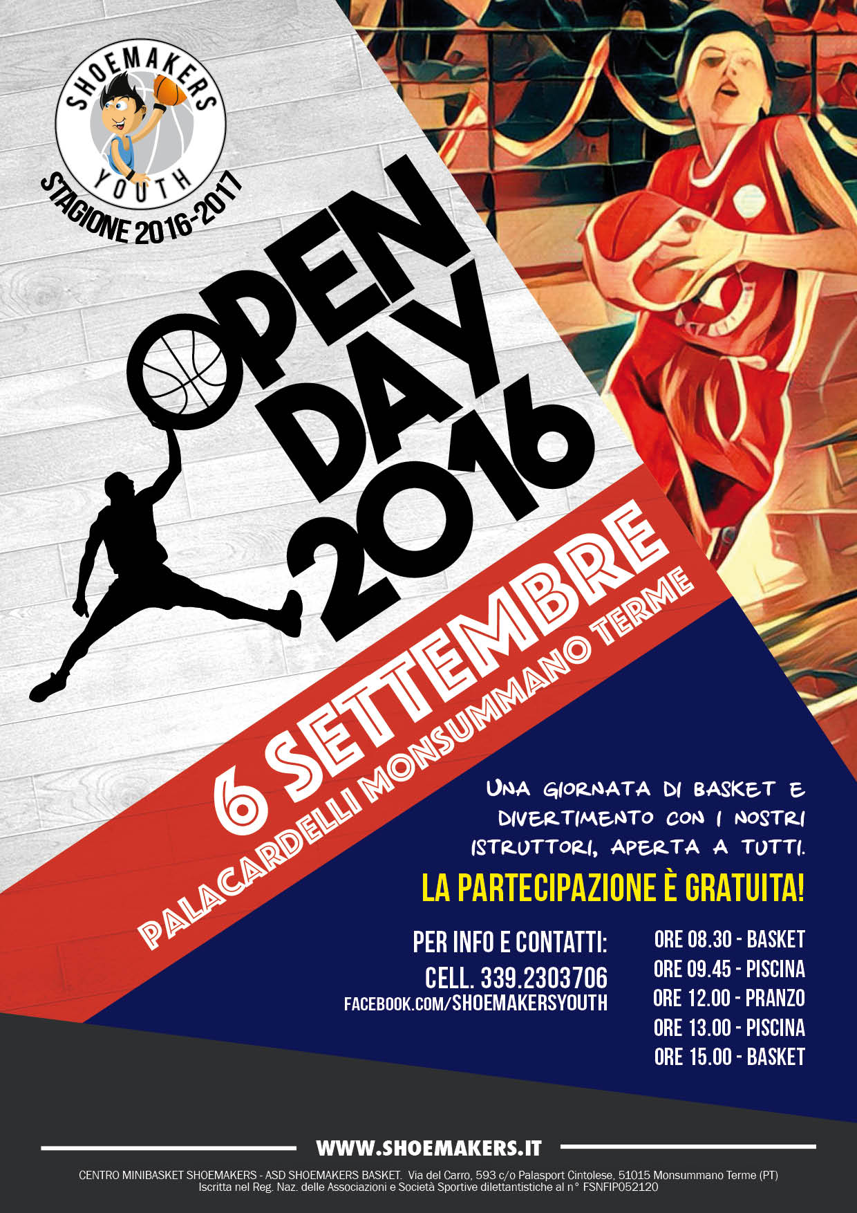 Open Day Shoemakers il 6 Settembre a Monsummano Terme