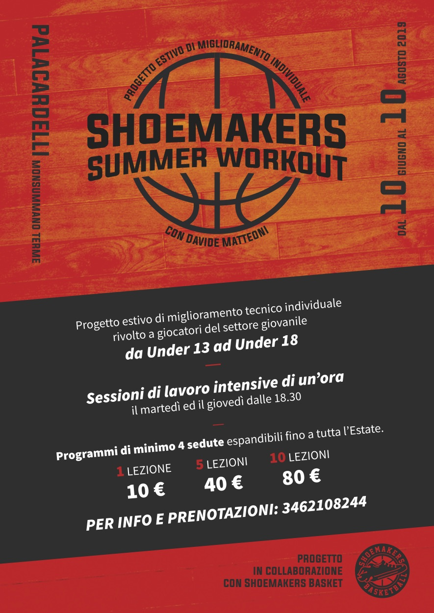 Shoemakers Summer Workout